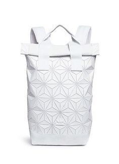 Adidas Originals 3D Roll Top Backpack WHITE Issey Miyake Modern Backpack, Adidas Originals, The Originals, Top Backpacks, Issey Miyake, 3d, Bags, Stuff To Buy, Fashion