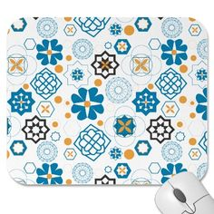 Make your desk your unique space with a new Geometric mouse pad from Zazzle! Motif Design, Design Patterns, Mousepad, Craft Patterns, Islamic Art, Architecture Design, Mosaic, Textiles, Printables
