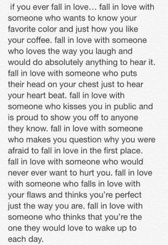 If you ever fall in love..