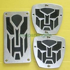 3X Transformers M T Car Motor Auto Non Slip Pedal Covers Black   eBay