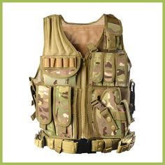Cheap military body armor, Buy Quality body armor military directly from China tactical police vest Suppliers: 2017 New Outdoor Police Tactical Vest Camouflage Military Body Armor Sports Wear Hunting Vest Army Swat Molle Tank Tops Paintball, Army Vest, Military Vest, Military Style, Military Camouflage, Police Tactical Vest, Tactical Gear, Tactical Training, Tactical Clothing