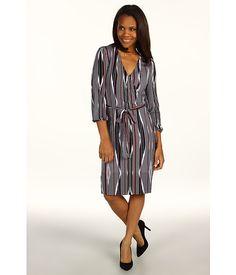 Calvin Klein Jeans L/S Neo Stripe Wrap Dress
