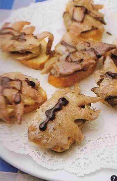 鶏のトサカとキノコソテーのピンチョ(バルサミコ)