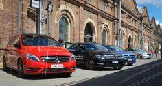 Mercedes-Benz A-Class, B-Class and C-Class at MBFW