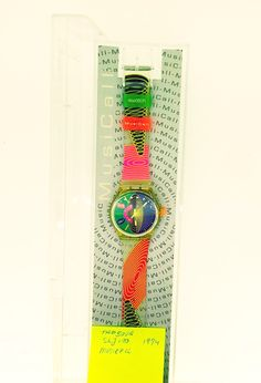 swatch watch tambour SLJ100 MusiCall 1994 new unused in original box with papers by KGMDiamonds on Etsy
