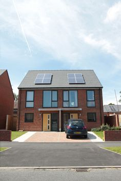 Affordable Housing | Solar panels | Large windows | Bright | Sustainable #noplacelikehome