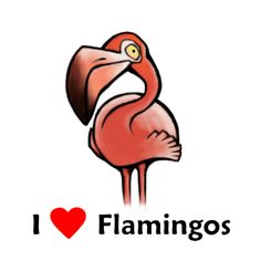 Who else wants flamingo t-shirts? If you like flamingos, you will love expressing it with these t-shirts. I Love Flamingos T-shirt Show the world you Flamingo Decor, Pink Flamingos, Flamingo Flower, Flamingo Gifts, Pink Bird, All Birds, Bird Feathers, Drawing, Spirit Animal