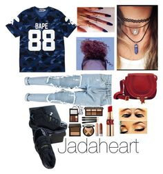 """Untitled"" by jadaheart ❤ liked on Polyvore featuring A BATHING APE, NIKE, Boohoo and Yves Saint Laurent"