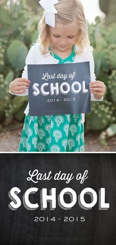 Last Day of School Printable Sign - simple as that