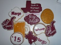 Aggie Ring Cookies by Sweet Station, College Station, TX