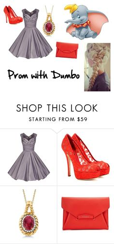 """""""Prom with Dumbo """" by tabitha-bilyeu ❤ liked on Polyvore featuring Disney, Dolce&Gabbana, Allurez and Givenchy"""
