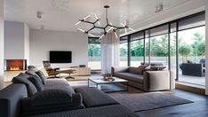 Bauhaus, Villa, Windows, Ceiling Lights, Lighting, Home Decor, Interiors, Best Wall Paint, Living Room