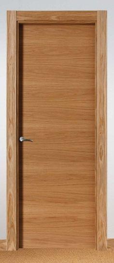 Made of wood puertas modernas en madera maciza s las for Puerta de roble macizo castorama