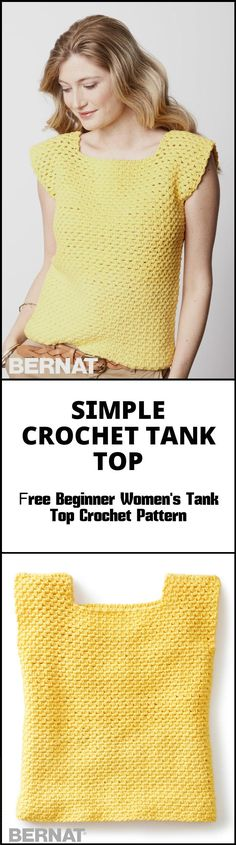 Simple Crochet Tank Top - 50+ Quick & Easy Crochet Summer Tops - Free Patterns - Page 2 of 9 - DIY & Crafts