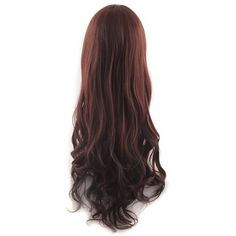 MapofBeauty Beautiful Long Wavy Harajuku Style Cosplay Wig (Dark... ($11) ❤ liked on Polyvore featuring beauty products, haircare and hair styling tools