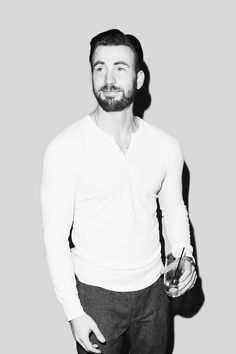 Chris Evans: this has the feel of, 'Yeah, it's a party, but sure, go ahead, snap the pic.' in the most good natured way.