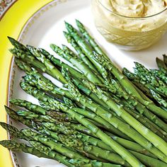 Asparagus with Curry Dip   Give a classic side dish an extra kick with spices like curry, horseradish, and hot sauce.