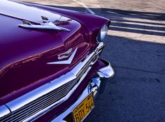 Beautiful old Chevy in purple