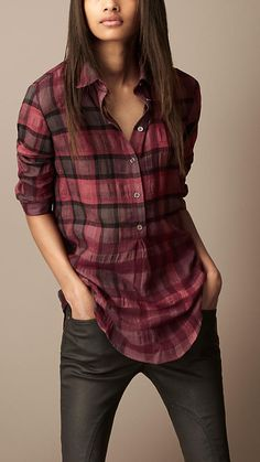 Burberry Brit Check Tunic Shirt