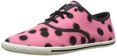 Marc  by  Marc  Jacobs  womens  dots  lace  up  fashion  sneaker  cheek  pink multi