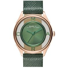 MARC BY MARC JACOBS 'Tether' Skeleton Leather Strap Watch, 25mm (15.535 RUB) ❤ liked on Polyvore featuring jewelry, watches, dial watches, skeleton jewelry, marc by marc jacobs watches, polish jewelry and skeleton wrist watch