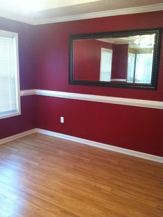 Red Dining Room Staged By Debbe Daley Designs LLC Benjamin Moore 2080 10 RaspberryTruffle