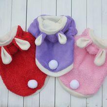 Roupas para cães acolchoado coelho dupla lã de algodão confortável para o…