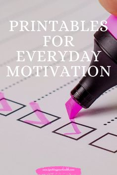 Check out our printables for motivation and mindset Healthy Lifestyle Changes, Happy Today, Weight Loss Motivation, Mindset, Health And Wellness, Printables, Check, Attitude, Health Fitness