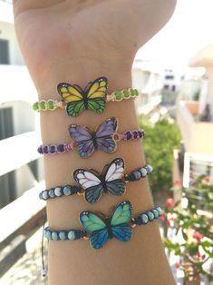 Butterfly Bracelet for Women and Girls, Jewelry Gift for You  #GrayWhite #SummerStyle #FriendshipJewelry #HandmadeGift #WomenBracelet #PurpleColor #GreenYellow #ButterflyCharm #MacrameString #BeachWaves Macrame Bracelets, Handmade Bracelets, Cuff Bracelets, Handmade Jewelry, Unique Jewelry, Girls Jewelry, Jewelry Gifts, Friendship Jewelry, Butterfly Bracelet