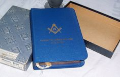 1950 Holman Masonic Bible, Fraternal Bible, Blue Standard King James Bible, Original Box THe Great Light in Masonry Temple Illustrated by SierrasTreasure on Etsy