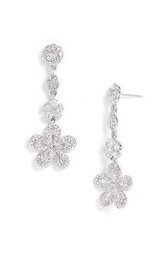 Nadri Pavé Flower Earrings | Nordstrom