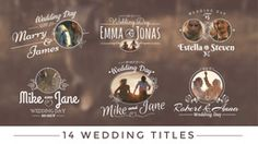 Wedding Titles 애프터 이펙트 프로젝트
