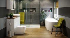 elegant bathroom designs toilet bidet combo freestanding tub shower glass partition wall