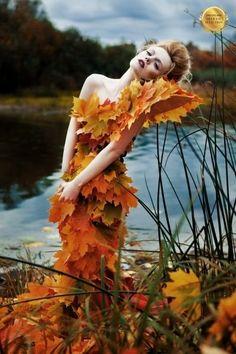 Olga Ilyina - Fashion Photography - Seasons - Autumn Concept Ideas Fashion and editorial Hair and Makeup Fantasy Photography, Fashion Photography, Autumn Photography, Portrait Photography, Costume Fleur, Theme Nature, Foto Fashion, Dress Fashion, Montage Photo