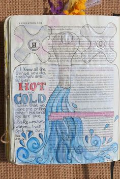 Revelation 3:15, April 18, 2016, carol@belleauway.com, watercolor, Illustrated Faith pen, bible art journaling, bible journaling, illustrated faith