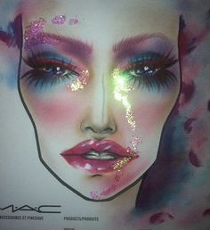 Most amazing face chart I've ever seen! GORGEOUS! MAC Artists work.