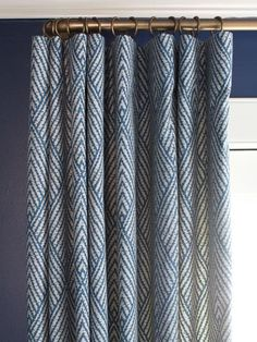 Soft-Top Construction - Choosing the Best Window Treatments for Your Home.  Single pleats mean the curtains stack back neatly away from the window. The curved rail is ideal for rustic or casual interior #awkwardwindows #curtains #curtainmaker