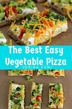 The Best Easy Vegetable Pizza The Best Easy Vegetable Pizza . - The Best Easy Vegetable Pizza The Best Easy Vegetable Pizza Cold Vegetable Pizza, Vegetable Pizza Recipes, Veg Pizza, Good Pizza, Vegetarian Recipes, Cooking Recipes, Healthy Recipes, Drink Recipes, Crescent Roll Veggie Pizza