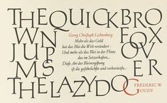 """Hermann Zapf, specimen pages from the """"Manuale Typographicum,"""" Stockholm, 1952."""