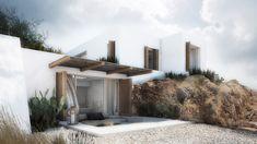 Interior design of a family house in Mykonos. Mediterranean Architecture, Amazing Architecture, Architecture Design, Greek Decor, Greece Hotels, Beautiful Space, Luxury Villa, Mykonos, Interior And Exterior