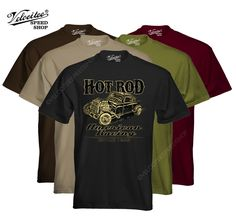 Velocitee Mens Premium T-Shirt American Racing Old Skool Hot Rat Rod W17313 #VelociteeSpeedShop