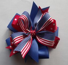 4th of July patriotic bow!