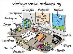 Vintage social networking ! #socbiz #fun