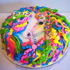 Lisa Frank Unicorn Horse Cake www.heycupcakebham.com