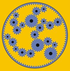Another rotating Illusion. Only this time it isn't snakes, it's cogs! These cogs are constantly in motion and will never stop moving!