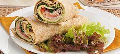 Turkey Onion Pesto Wraps a Yes You Can Diet Plan Lunch Recipe Lunch Recipes, Diet Recipes, Cooking Recipes, Healthy Recipes, Diet Meals, Healthy Options, Eat Healthy, Yes You Can Recipe, Pesto
