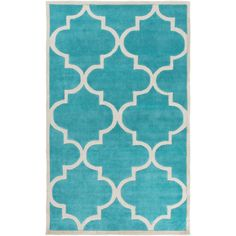 Surya Mamba Teal/Light Gray Geometric Area Rug