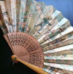 vintage wood fan
