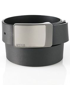 Kenneth Cole Reaction Belt, Reversible Embossed Strap Belt - Mens Belts, Wallets & Accessories - Macy's
