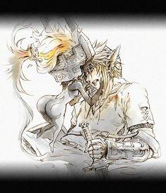 Midna and Link by @karasuki